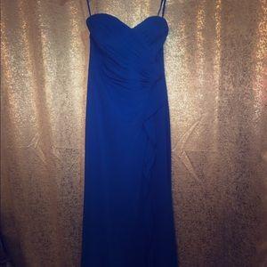 Ralph Lauren Royal Blue Full Length Evening Gown
